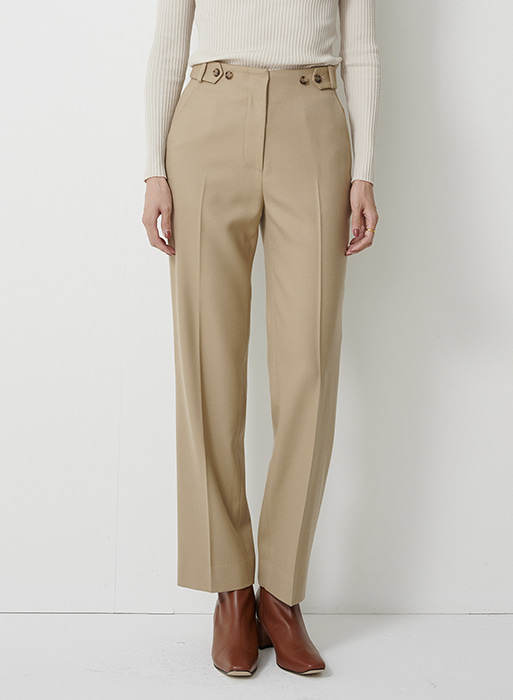 [20FW SEASON OFF]  Bella button wool trouser